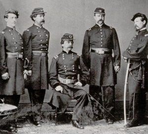 Daniel Sickles and his staff after the battle of Gettysburg