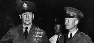 Dwight D Eisenhower and Douglas MacArthur