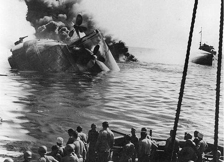 Sinking of oiler USS Mississinewa - us navy
