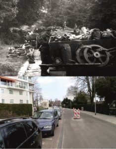 Battle of Arnhem on 18-19 September 1944 at the Hulkesteinseweg, Arnhem.