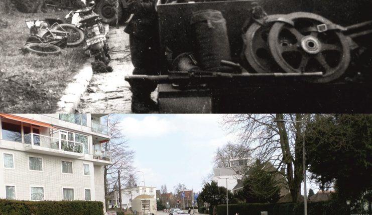 Battle of Arnhem on 18-19 September 1944 at the Hulkesteinseweg, Arnhem.