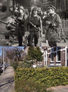 THEN & NOW: Battle of Arnhem. 2 cm Flak in Arnhem at the Johan de Witlaan.