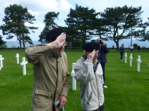 Graham and Charley in the Normandy American Cemetery and Memorial
