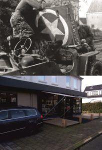 THEN & NOW: Battle of Arnhem. Photograph taken on the corner of Vogelweg and Emmastraat, Oosterbeek.