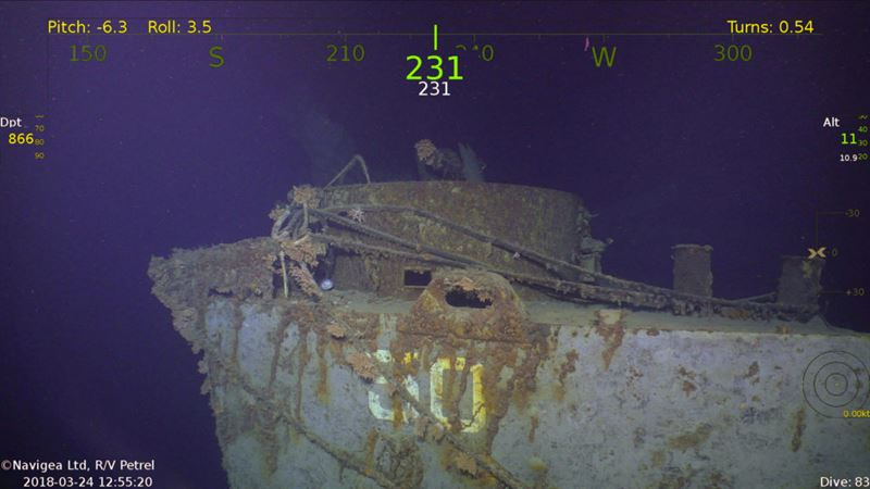 USS Helena CL-50 Discovered