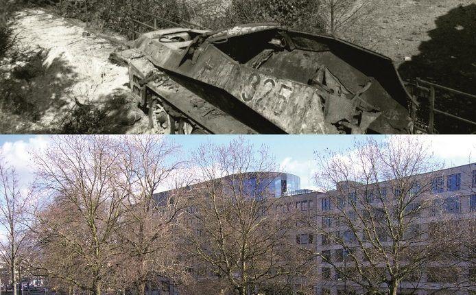 Battle of Arnhem, SdKfz 250 near Limburg van Stirumschool in Arnhem
