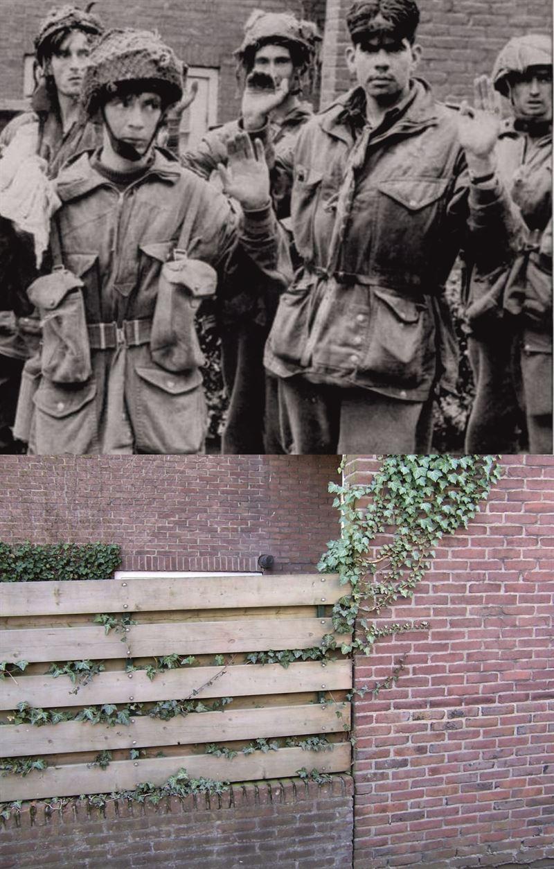 THEN & NOW: Battle of Arnhem. British Prisoners of War at the Van Olderbarneveldstraat