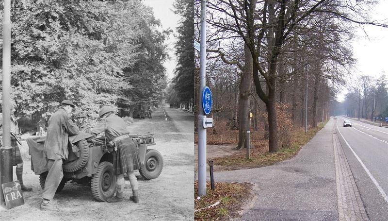 THEN & NOW: Battle of Arnhem. Troops at Doorwerth in September, 1944 during Operation Market Garden.