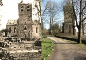 THEN & NOW: Battle of Arnhem. Church of Oosterbeek.