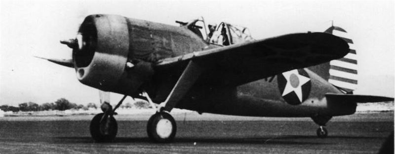 Brewster F2A-3 preparing for take-off at MCAS Ewa early 1942