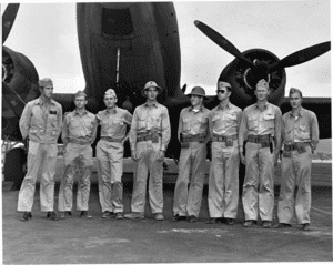 Surviving VMF-221 pilots at Ewa Field about three weeks after the battle