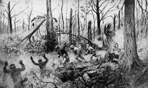 U.S. Marines in Belleau Wood (1918) by Georges Scott.