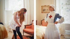 Getting Dressed VAD Nurse WW1
