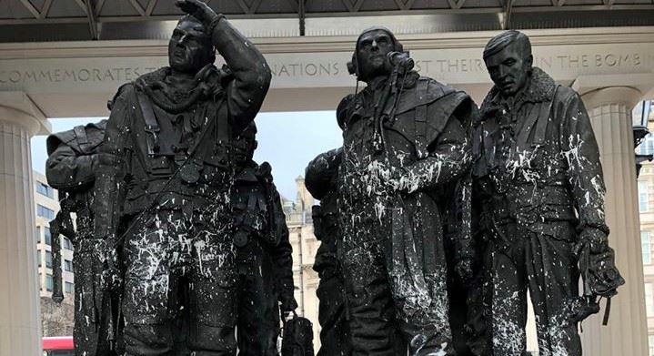 Statue of Bomber Command Memorial Vandalized 1 (2)
