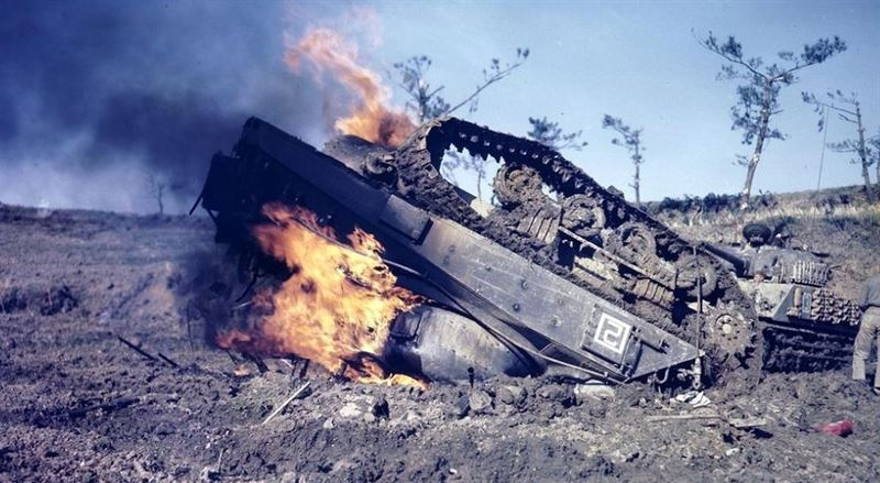 The Death of a Tank - Incredible Footage of World War 2