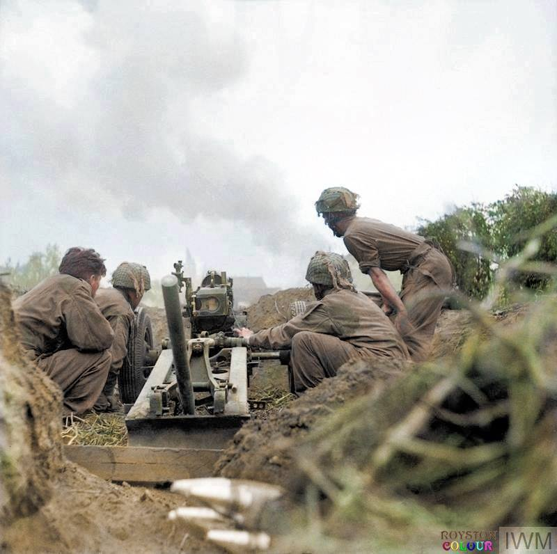 No. 1 Gun, 75mm howitzer of 'D' Troop, 2nd Battery, 1st Airlanding Light Regiment, 1st Airborne Division in the Oosterbeek perimeter. September 21, 1944