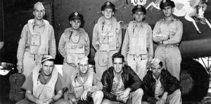 """The entire crew of B-24D """"Galloping Gus"""", this entire crew later went missing with B-24J 42-72999 on January 21, 1944. (Credits: PacificWrecks)"""