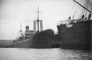 The SS Iron Crown alongside SS Hagen
