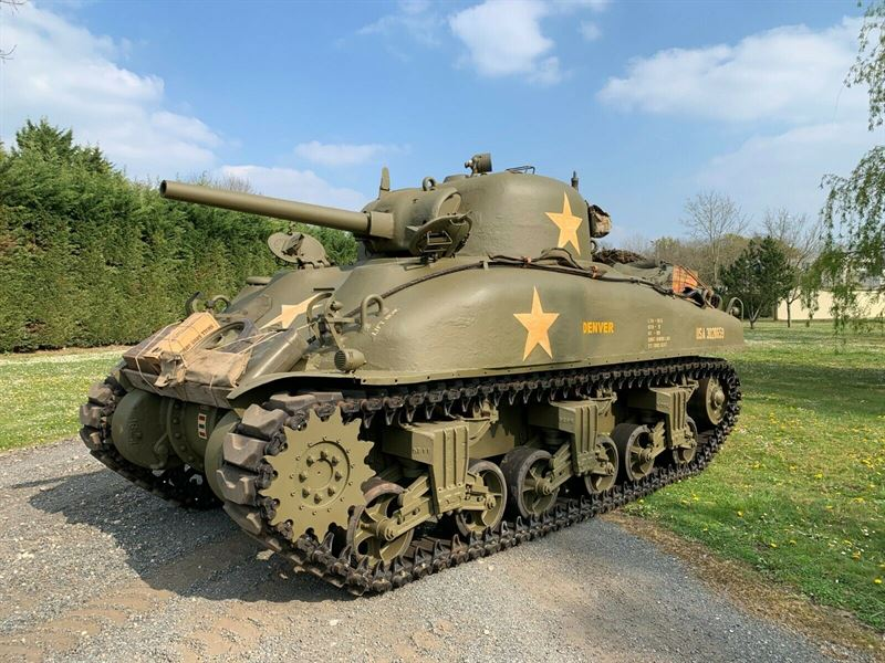 Military Tanks For Sale >> Authentic Sherman Tank From 1943 For Sale On Ebay