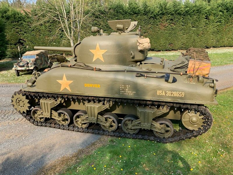 Authentic Sherman Tank From 1943 For Sale On Ebay