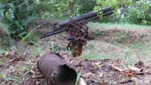 Japanese AA .75mm battery behind hotel