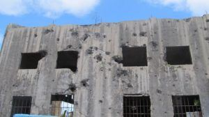 Japanese HQ's on Palau, strafed by US fighters