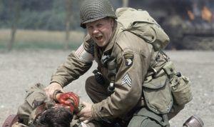 "Michael Cudlitz as Staff Sergeant Denver ""Bull"" Randleman"