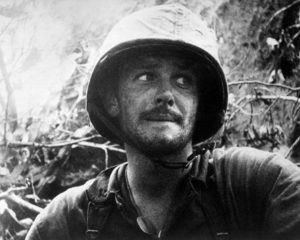 US Marine in action at Peleliu Island, Palau Islands, Ca. September 1944