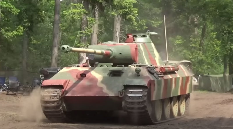Image of a military tank in 2019