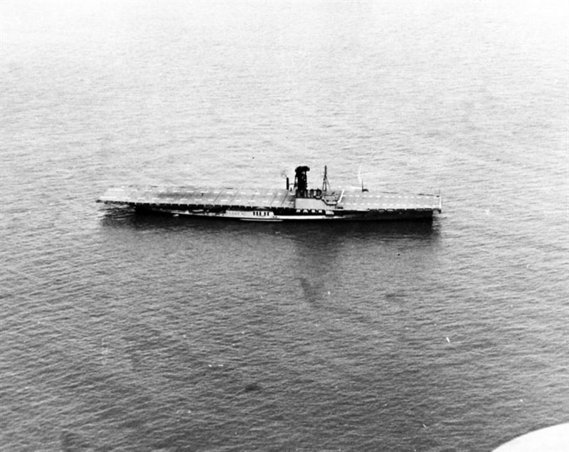 USS Wolverine (IX-64) photographed on April 6, 1943.