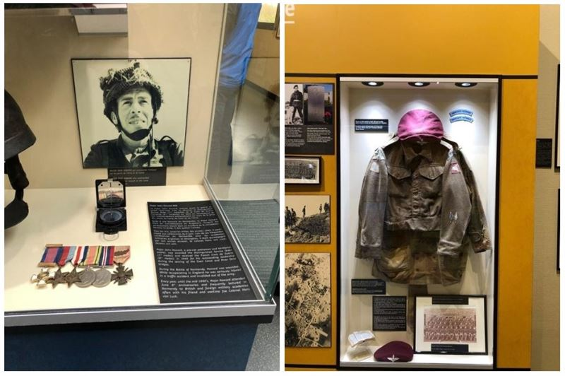 Artifacts from the British Airborne Memorial Museum