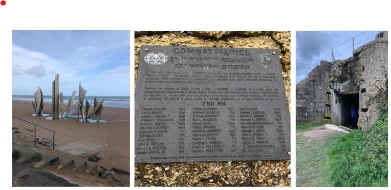Memorials and Gun Positions at Omaha Beach
