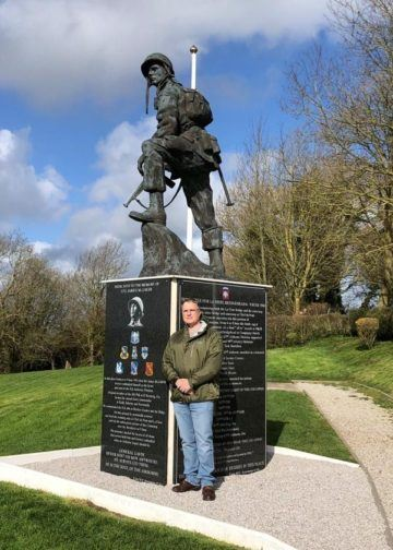 Iron Mike Statue with tribute to General Gavin at La Fiere Causeway