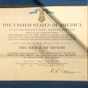 DeGlopper's Medal of Honor Citation