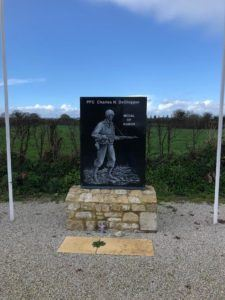 DeGlopper memorial at La Fiere Causeway.