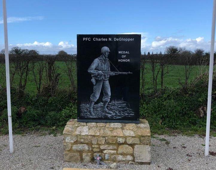 DeGlopper memorial at La Fiere Causeway.