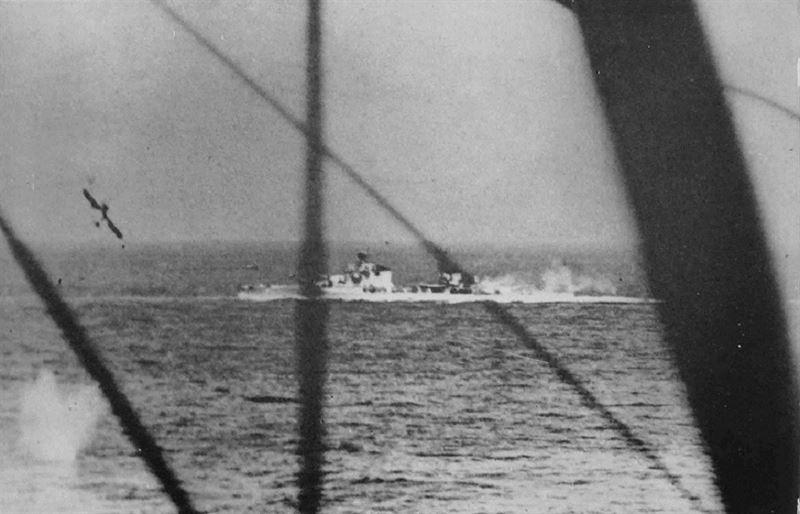 Итальянский тяжелый крейсер в битве при мысе матапан. Вторая мировая война в Средиземноморье.