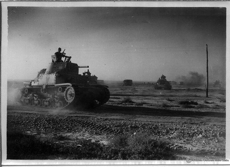 итальянские танки Африканского корпуса. Вторая мировая война в Средиземноморье.