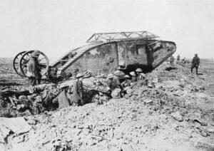 British Mark I at Battle of Somme 1916