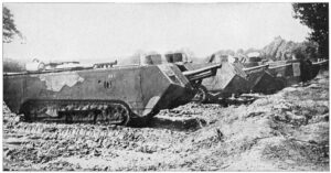 French Tank in WW1 Saint Chamond